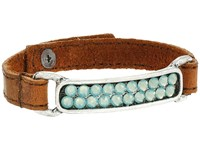 Leather Rock B737 Kodiak Tobaco Bracelet Brown