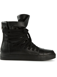 Kris Van Assche Strappy Hi Top Sneakers Black