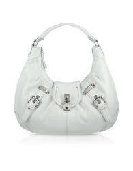 Buti Large Pebble Leather Hobo Bag White