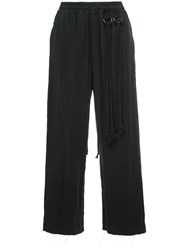 Song For The Mute Elasticated Straight Leg Trousers Blue