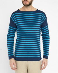 Armor Lux Navy And Bright Blue Original Striped Top