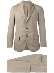 Massimo Piombo Mp Unconstructed Single Breasted Suit Men Cotton Linen Flax Viscose 50 Nude Neutrals