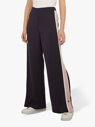 Ted Baker Wahnona Side Stripe Wide Leg Trousers Mid Blue