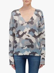 360 Sweater Theo Camo Cashmere Jumper Chalk Blue