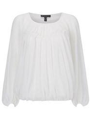 Adrianna Papell Long Sleeve Blouse Ivory