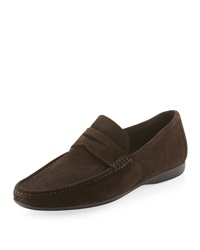 Bruno Magli Partie Moccasin Penny Loafer Brown