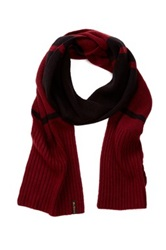 Ben Sherman Colorblock Knit Scarf Black