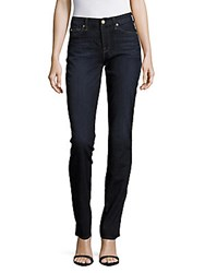 7 For All Mankind Kimmie Straight Five Pocket Jeans Blue