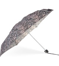 Fulton Tiny 2 Dark Leopard Print Umbrella