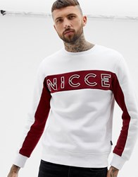 Nicce London Sweatshirt With Chest Logo Exclusive To Asos White