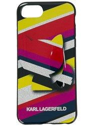 Karl Lagerfeld Choupette Striped Phone Case Black