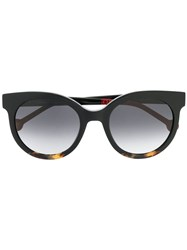 Carolina Herrera Round Frame Sunglasses Black