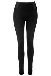 Topshop Double Elastic Stripe Leggings Black