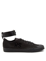 Raf Simons X Adidas Spirit Buckle Low Top Canvas Trainers Black