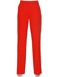 Max Mara Wide Wool Crepe Pants