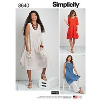 Simplicity 'S Dress Sewing Pattern 8640