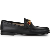 Gucci Classic Horsebit Leather Loafers Black