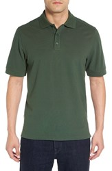 Nordstrom Men's Big And Tall Men's Shop Tipped Oxford Pique Polo Green Pinecone