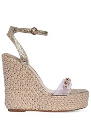 Sophia Webster 140Mm Dina Plexi And Leather Wedges Gold
