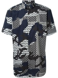Neil Barrett Mixed Print Shirt Multicolour