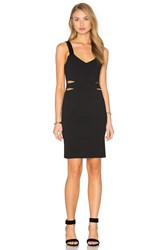 Twin Sister Waist Cut Out Dress Black
