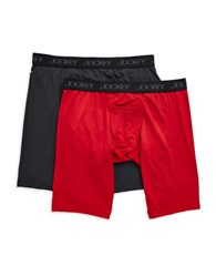 Jockey Two Pack Quad Shorts Red