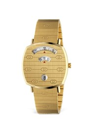 Gucci Grip 35Mm Stainless Steel Watch Gold