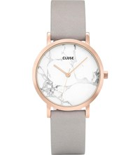 Cluse Cl40103 La Roche Petite Rose Gold And Marble Watch