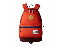 The North Face Berkeley Backpack Tibetan Orange Shady Blue Backpack Bags Red