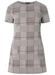 Dorothy Perkins Black And Pink Checked Tunic