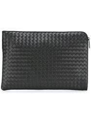 Bottega Veneta Woven Clutch Black