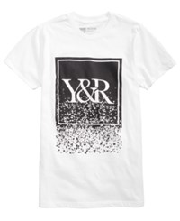 Young And Reckless Men's Fragment Trade Graphic Print T Shirt White