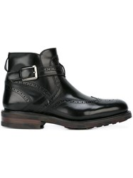 Salvatore Ferragamo Buckled Boots Black