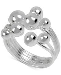 Touch Of Silver Openwork Ball Ring In Silver Plated Metal
