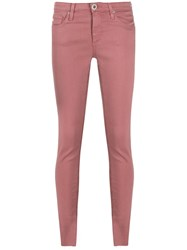 Ag Jeans Mid Rise Skinny Pink