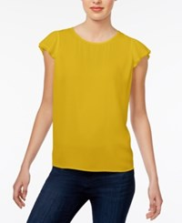 Maison Jules Flutter Sleeve Top Only At Macy's Maize Gold