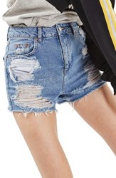 Topshop Women's Ripped Mom Shorts
