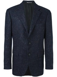 Canali Tweed Blazer Blue