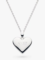Kit Heath Personalised Sterling Silver Heart Pendant Necklace Silver