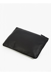 Jil Sander Black Leather Document Wallet