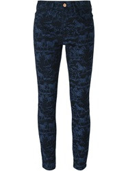 See By Chloe Horse Jacquard Skinny Jeans Blue
