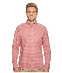 Nautica Long Sleeve Wear To Work Gingham Shirt Sailor Red Men's Clothing