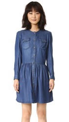 The Kooples Chambray Dress Blue