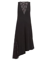Tibi Guipure Lace Crepe Dress Black