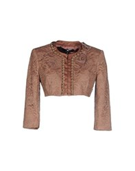 Elisabetta Franchi Suits And Jackets Blazers Women Light Brown