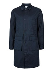 Topman Blue Navy Formal Military Style Mac