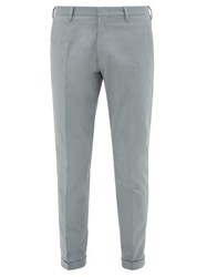 Paul Smith Slim Fit Cotton Blend Twill Chino Trousers Light Blue