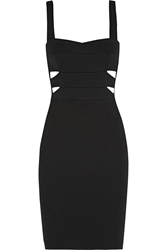 Narciso Rodriguez Cutout Ribbed Stretch Knit Dress