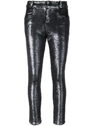 Iro Sequinned Trousers Grey