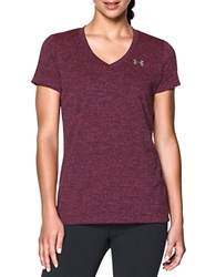 Under Armour V Neck Tech Tee Maroon